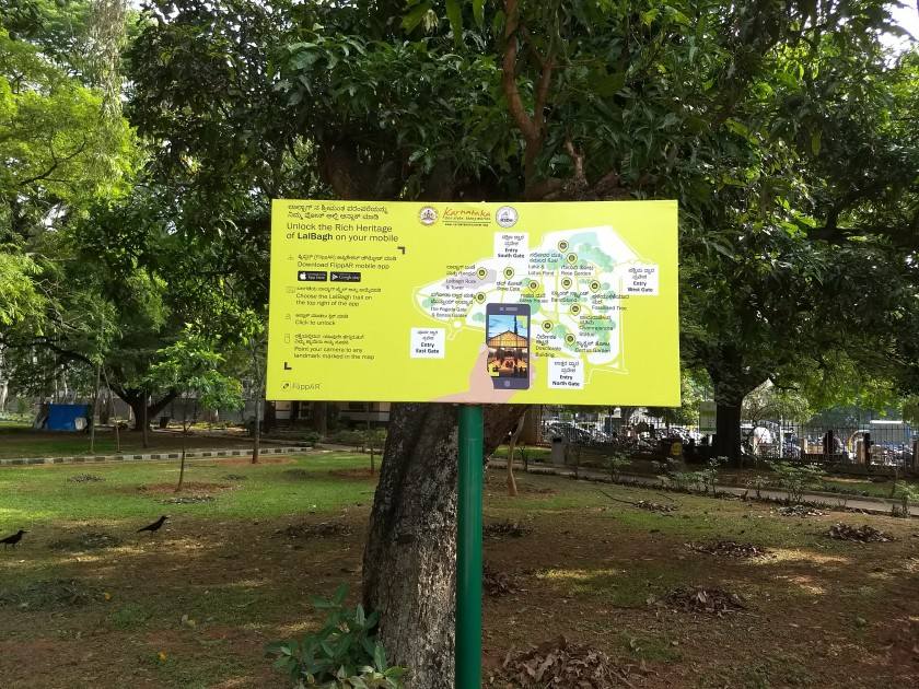Guided map of Lalbagh