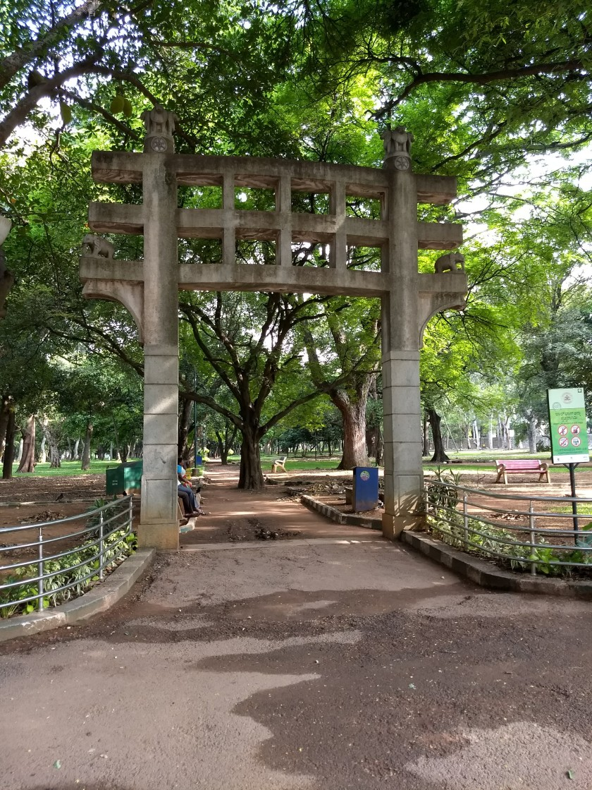 Entrance to a garden in Lalbagh