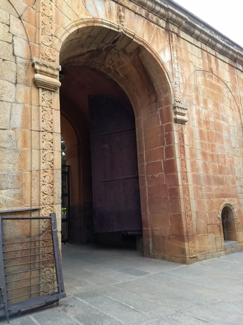A gate in Bangalore Fort