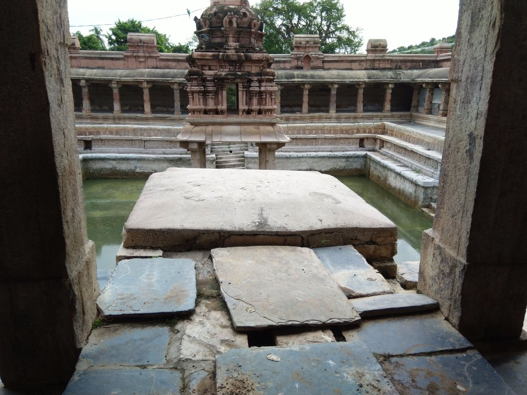 The pond in the temple